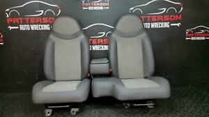 2001 Ford Ranger Front Cloth Vinyl 60 40 Bench Seats Dark Graphite Ft