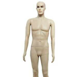 Male Plastic Straight Hand Straight Foot Full Body Model Mannequin Skin Color Us