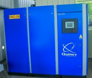 Quincy 370i Rotary Screw Compressor 75 Hp And Hankison Hprp750 Air Dryer