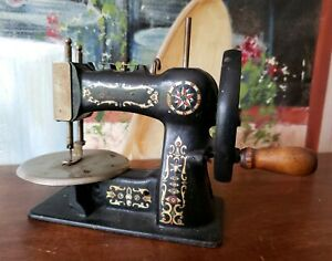 Antique Stitchwell Childs Toy Mini Sewing Machine