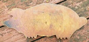 Old Vintage Figural Wooden Pig Primitive Cutting Board Folk Art