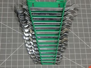Mac Tools Sae 4 Way Angle Head Open End Wrench 14pc Set 3 8 1 1 4 Rack Four
