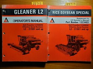 Allis chalmers Gleaner L2 Combine S n 21501 Operator Manual 80 Rice soybean