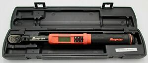 Snap On Tools Atech2f100vo 3 8 Drive Flex Head Tech Angle Digital Torque Wrench