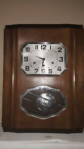Antique Wooden Chime Wall Clock Jura Veritable Westminster Works