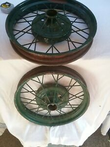 Rare Ford Model A T Vintage 21 X 3 Pair Of Wire Spoke Wheel