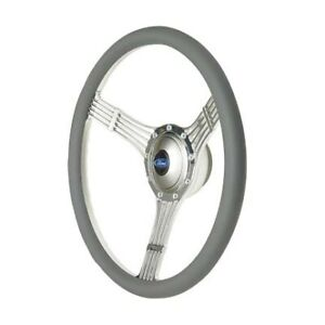 Gt Performance Steering Wheel Retro Banjo Gray Leather Pol 21 42454