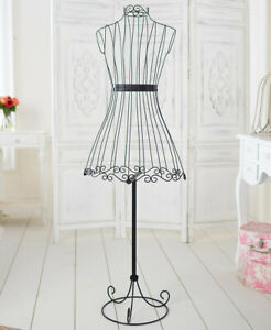 Chic Vintage Style Wire Dress Form Mannequin Boutique Holder Store Display Stand