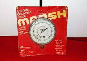 Brand New Marsh Low side Compound Gauge W0011 2 1 2 For R12 R 22 R 502 Manifold