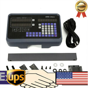 New Dro Display Linear Scale 2 Axis Digital Readout Cnc Milling Lathe Encoder Us