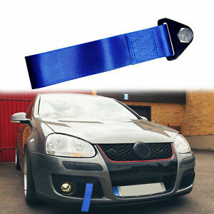 One Pc Of Sports High Strength Blue Racing Tow Strap Set For Bumper Towing Hook