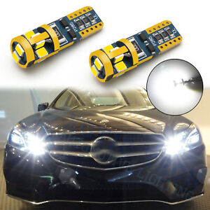 2x 6000k Xenon White 2825 W5w Canbus Wedge Led Bulbs For Reverse Parking Lights