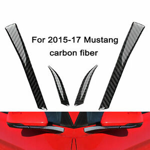Carbon Fiber Rear View Mirror Decor Trim Sticker For Ford Mustang 2015 2017