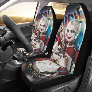 Custom Harley Quinn Seat Covers Personalize Car Seat Covers Protector Set Of 2