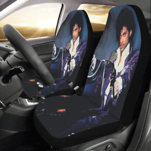 Universal Fit Custom Prince Purple Rain Front Car Seat Covers Protector Set Of 2