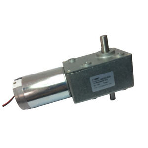 12vdc 3rpm Low Speed Dc Worm Turbo Double Shaft Geared Reducer Motor