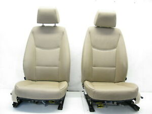 06 11 Bmw E90 335i 328i 325i Sedan Front Seats Pair Left Right Tan Non Sport