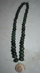 Orig 1099 Wow Pre Columbian Mayan Jade Shell Necklace 14in Prov