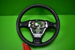 2004 2007 Mazda 3 Black Leather Electric Steering Wheel
