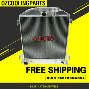 Aluminum Radiator For 1932 Ford Hi Boy Hot Rod Grill Shells Ford V8 Engine