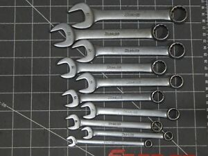 Snap On 10pc Metric Short Combination Wrench Set 7mm 19mm Oexm 12pt Incomplete