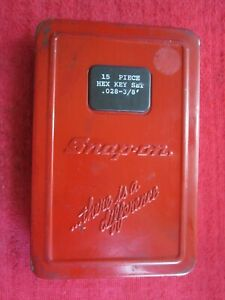 Vintage 15 Piece Snap On 028 To 3 8 Allen Wrench Hex Key Set