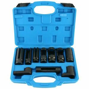 10pcs Oxygen Sensor Socket Set Sensor Oil Pressure Sending Unit Removal Tool Kit