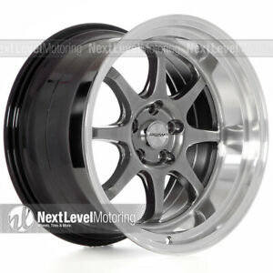 Circuit Cp25 18x10 5 5 114 3 22 Hyper Black Wheels Deep Lip Fits 350z G35