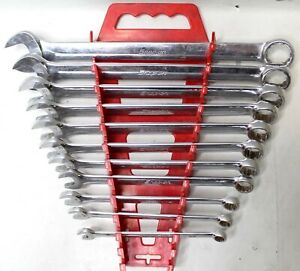 Snap On 11 Piece 3 8 1 12 point Flank Drive Standard Combo Wrench Set Oex32a