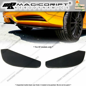 For 13 14 Ford Focus St Rear Bumper Lips Side Spoiler Splitter Polyurethane Mk3