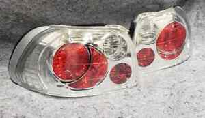 Honda Civic Del Sol 93 97 Spyder Chrome Euro Tail Lights Jdm Pair New In Box