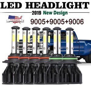 6x 9006 9005 Led Headlight 9145 Fog Light For Chevrolet Silverado 1500 2003 2006