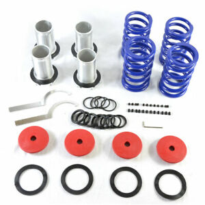 Lowering Red Scaled Suspension Coilover Blue Spring Fit 88 00 Civic Eg Ek dc