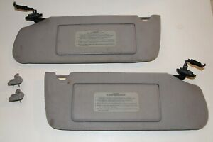 93 98 Jeep Grand Cherokee Xj Sun Visor Shade Grey Lighted Homelink Sunvisors