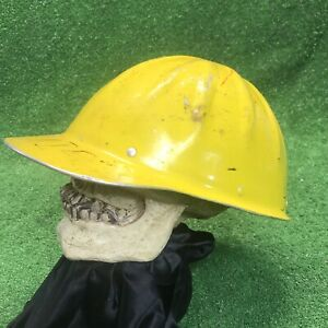 Vtg Willson Aluminum Hard Hat Made In Usa Without Liner Mining Logging Yellow