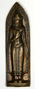 Thai Buddhist Prayer Charm Antique Copper Good Luck Pendant Priced Right