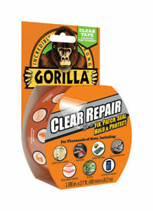 Gorilla Clear Repair Tape Vinyl Patch Inflatable Underwater Wet dry Surface New