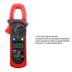 Ut203 Digital Clamp Multimeter Ac 400a Ammeter Frequency Resistance Measurement