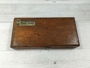 Brown And Sharpe Outside Micrometer 13 In Original Wood Case