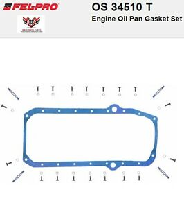 Chevy Chevrolet 305 350 400 Sbc Felpro Molded Rubber Oil Pan Gasket 1976 1985