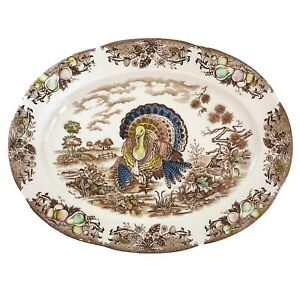 Vintage Turkey Platter Transferware Japan