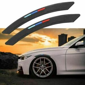 M Color Sport Wheel Eyebrow Arch Lips Fender Guard Protector Strips Trim For Bmw