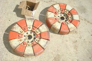 1961 Ford 641 Tractor Rear Pie Weights Hardware 9n 2n 8n Naa 600 800