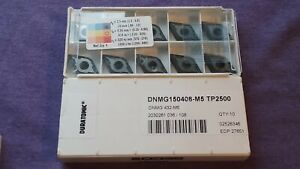 10 New Seco Carbide Inserts Dnmg432 m5 tp2500 mpn 27651 3 Lots Available