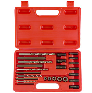 Screw Extractor drill Guide Set 25pc Bolt Stud Remover Easy Out Eazi
