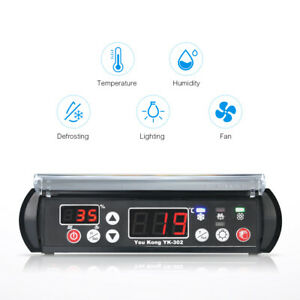Youkong Digital Temperature And Humidity Controller 220v Reptile Thermostat C5d7