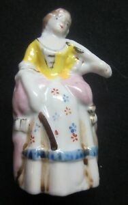 Vintage Occupied Japan Porcelain Lady Victorian Woman Figurine Violin Playing