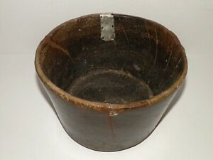 Primitive Hand Carved Wooden Bowl Vase Rustic Kitchen Vintage Antique