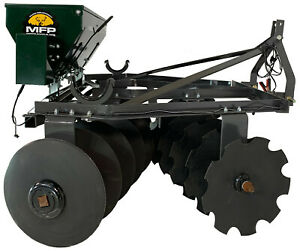 Micro Food Plots Brand 3 point Medium Duty 20 Blade Disc With Electric Seeder