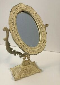 Vintage Victorian Cast Iron Vanity Tilting Mirror Dressing Table Makeup